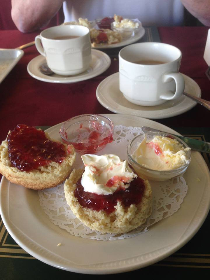 Devon Cream Tea at The Copper Kettle Tearoom Bovey Tracey